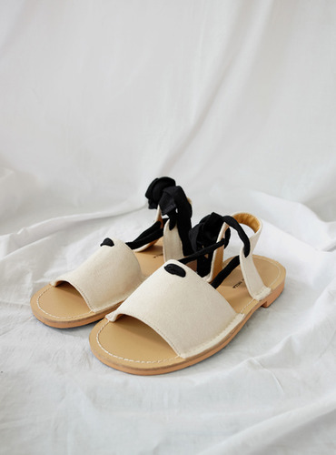 2color ankle strap sandal@