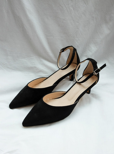 3color suede low heel@