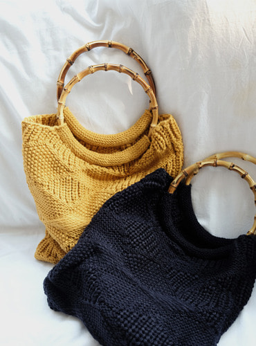 bamboo ring knit bag