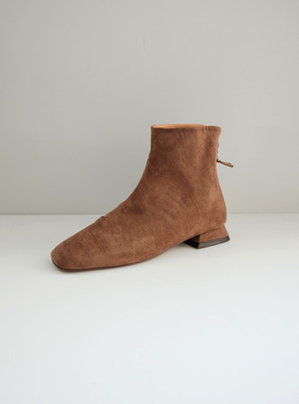 suede low boots@