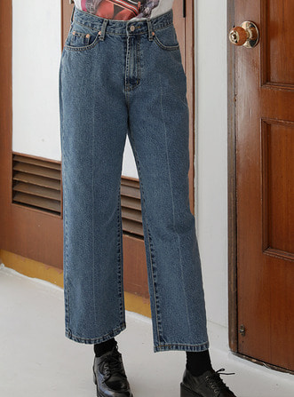 front-line denim pants