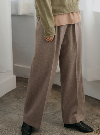 brown wide slacks