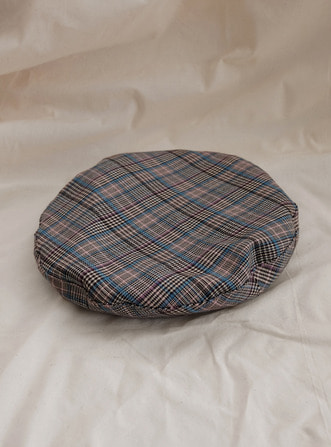 houndstooth check beret