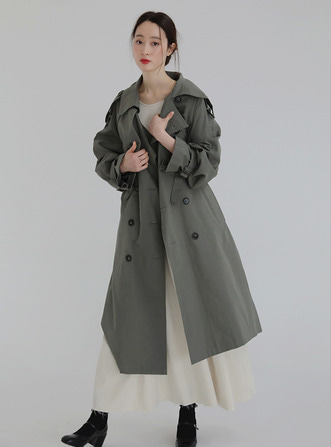 dry cotton trench coat