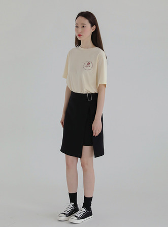 front belted skirt