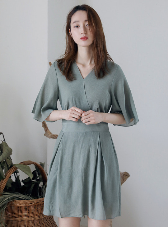 mint v-neck dress [점프수트]