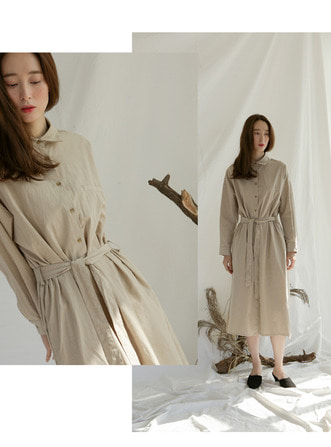 button long dress