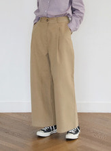 wide-fit cotton pants