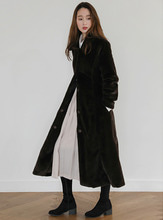 fur long coat