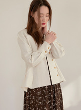 ivory volume blouse